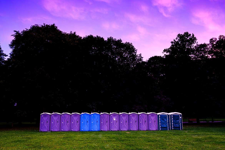 welfare facilities row of toilets