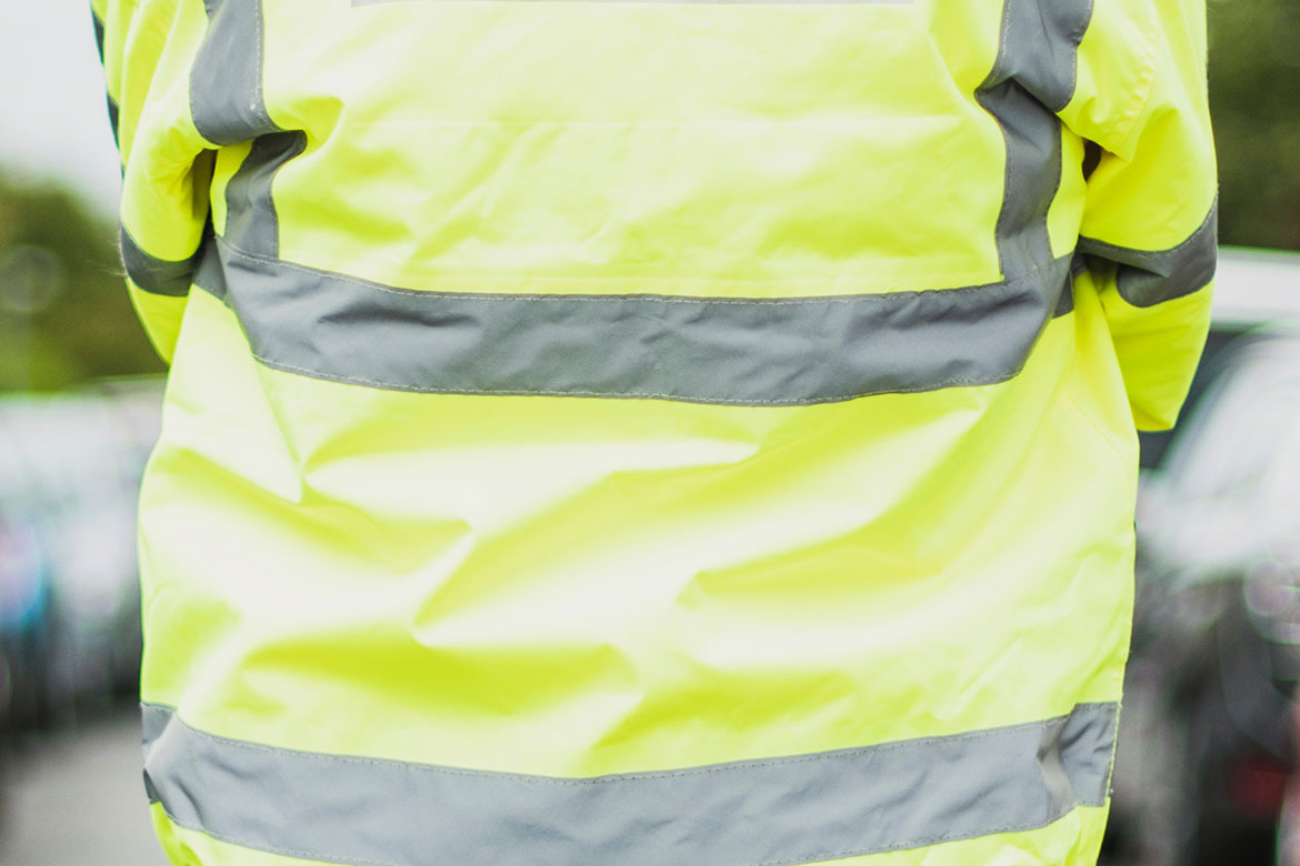 person wearing hi-viz